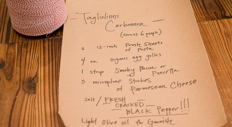 Carbonara Recipe with Tagliolini