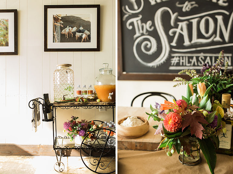 bar-cart-fall-colors-flowers