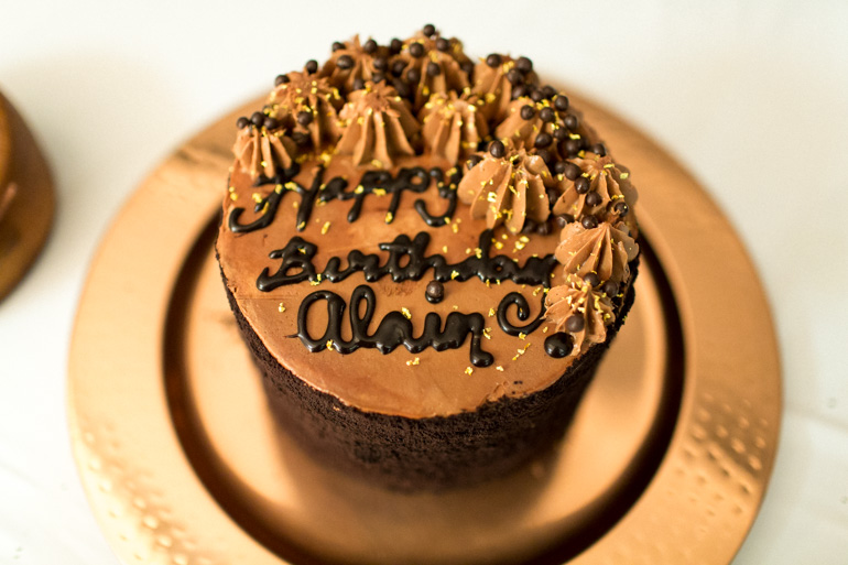 chocolate-birthday-cake-gold-dust