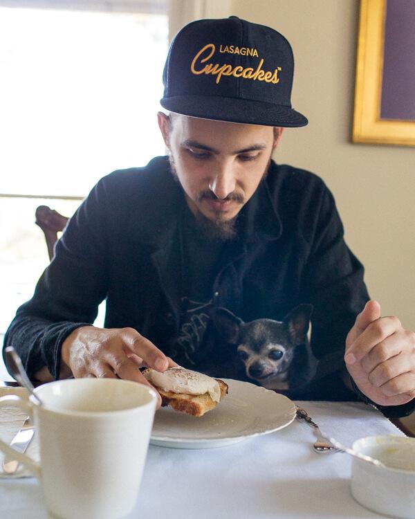 chihuahua-poached-egg-lasagna-cupcake-hat