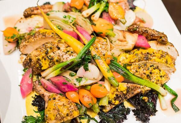 chicken-dinner-carrots-radishes-plate