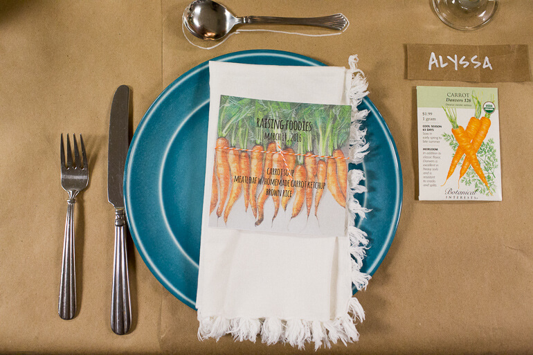 carrot-menu-napkin-plate-dinner