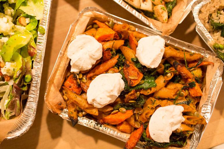 beet-garganelli-pasta-carrots-catering-seasonal-ricotta