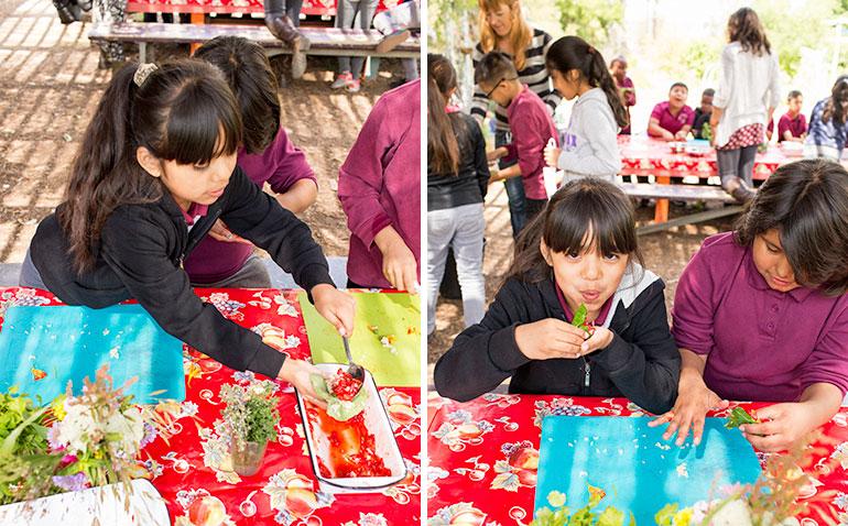 cooking-class-children-eating-garden-classroom