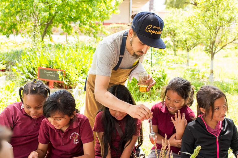 garden-school-foundation-gsf-teaching-honey-children