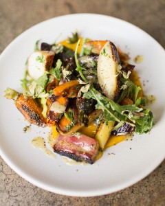 Grilled Nectarine and Carrot Salad