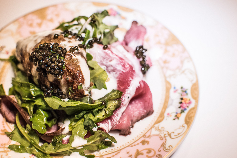steak-caviar horseradish-plate-catering-hollywood