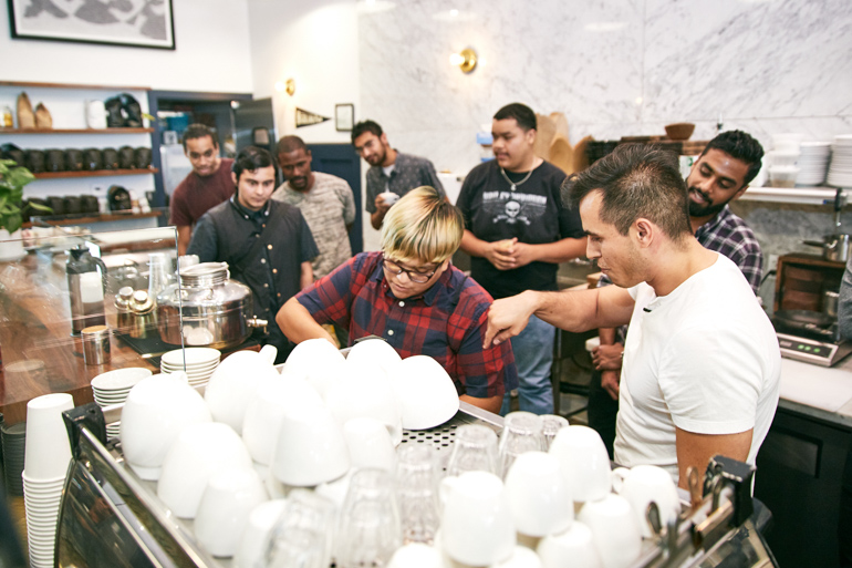 coffee, community, heirloom la