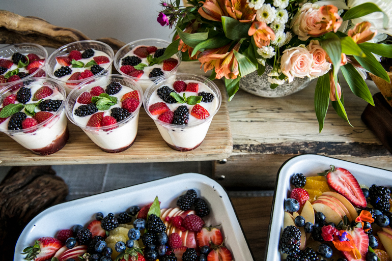 Yogurt, Heirloom LA, Fruit Platter, Los Angeles Catering