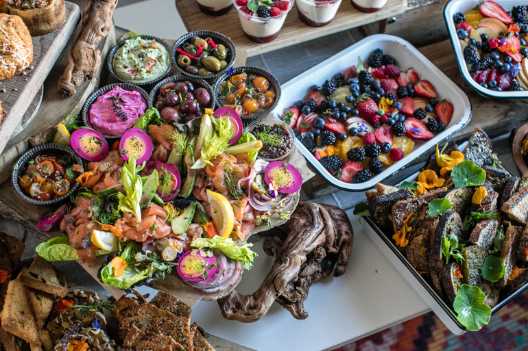 smoked fish, Heirloom LA, catering, los angeles, fruit platter, party food, farm to table