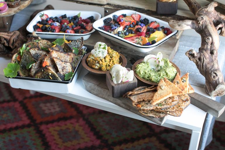 Avocado Platter, Heirloom LA, Los Angeles Catering, toast, fruit platter