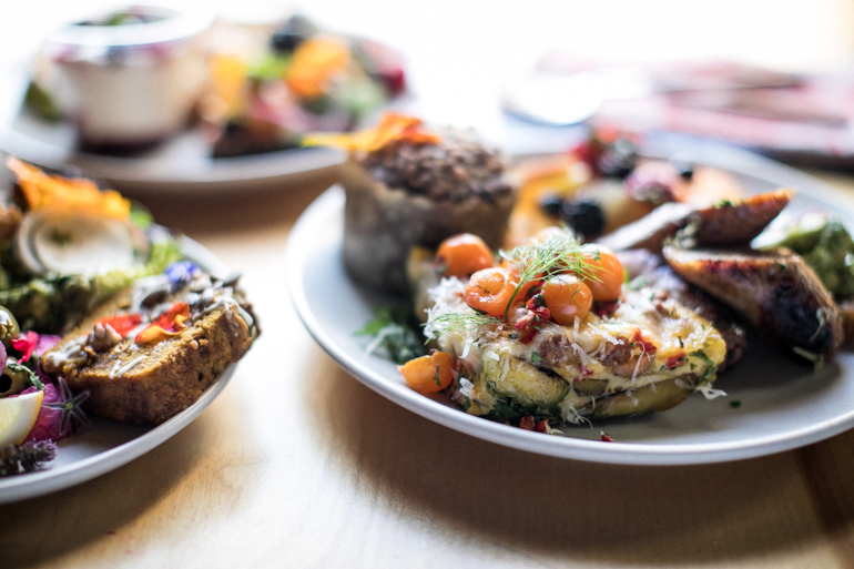fritatta, Heirloom LA, brunch, breakfast, sungold tomatoes, farm to plate catering