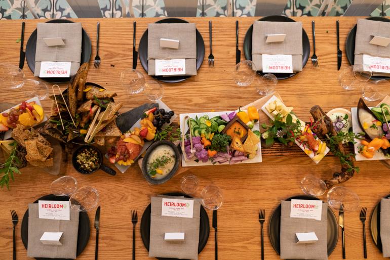 Edible Flowers, heirloom la, edible centerpiece, farm to table