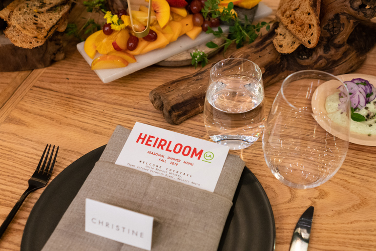Heirloom LA Menu