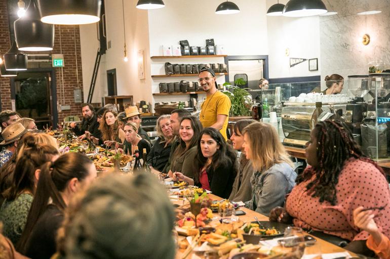 matt Poley, civil coffee, farm to table, farm dinner, heirloom la