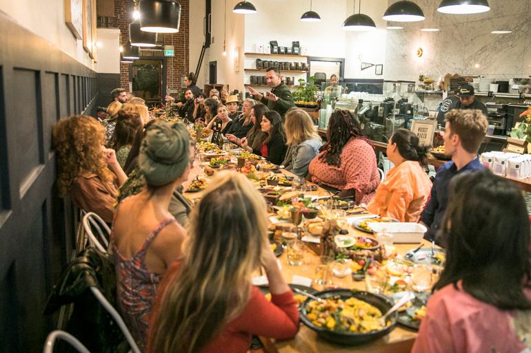 matt Poley, civil coffee, farm to table, Karen Beverlin, farm dinner, heirloom la, baby root farm, mc grath farm