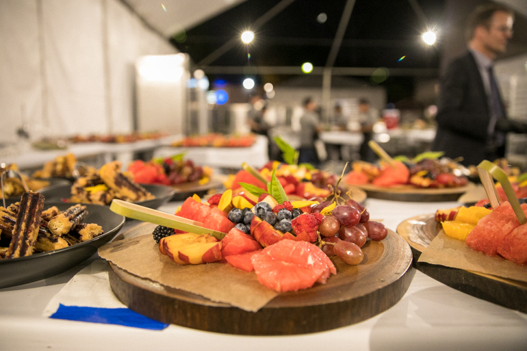 fruit platter,  Silverlake Conservatory of Music, Silverlake, Flea, Eddie Vedder, Heirloom LA