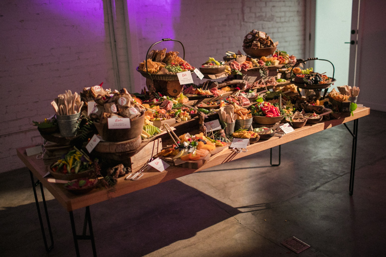 The Grand Crostini Station, heirloom la, catering, los angeles, shark pig, buffet, charcuterie