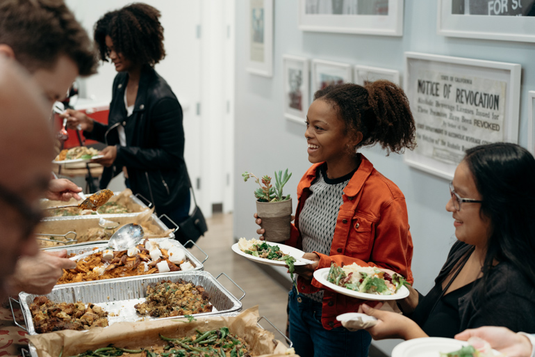burts bees, Thanksgiving Buffet, Heirloom LA, Alliance for Children's Rights, Holiday food, community, community coalition, south los angeles, cooking class