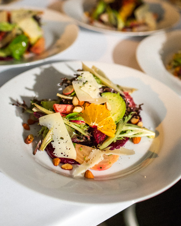 salad, healthy, heirloom la, plating, plated salad, Los angeles catering,